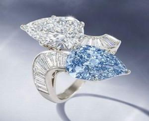 bague bulgari diamant bleu
